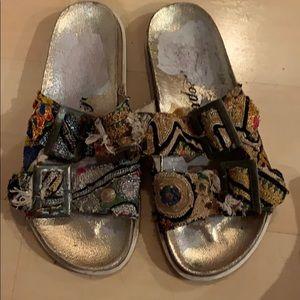 Free People Boho Fabric Sandals